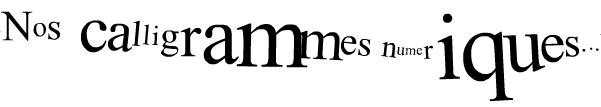 bandeau calligramme