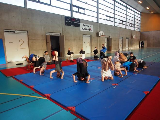 Praticable gymn