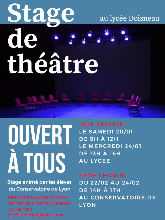 Stage theatre affiche